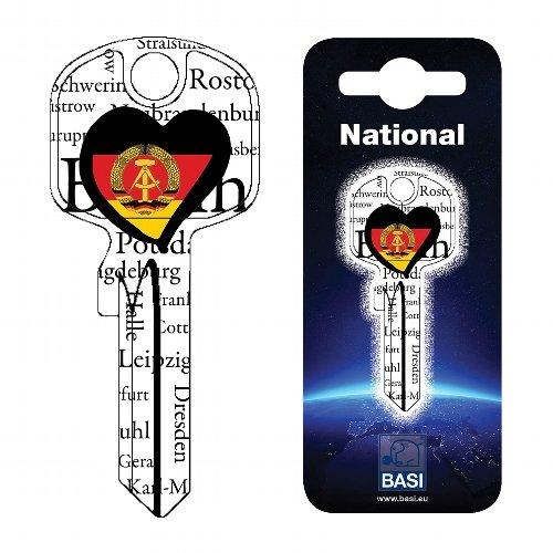 Fanschlüssel Schlüsselrohling Schlüsselanhänger Fanartikel Schlüsseldienst DDR