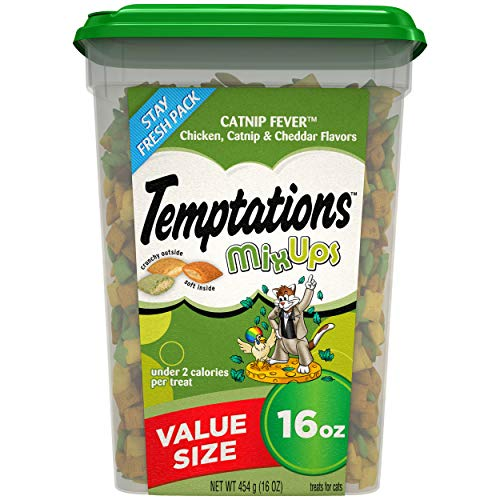 Our #2 Pick is the Temptations MixUps Crunchy and Soft Cat Pet Treats