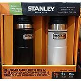 STANLEY スタンレー クラシック ワンハンド 真空 サーモマグ 16oz 473mL 0.47L 水筒x2色2個セット (ブラック+ホワイト)