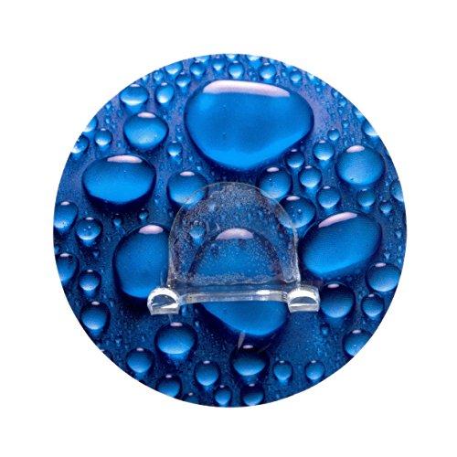Wenko 20199100 Static-Loc Wandhaken Duo Aqua, Befestigen ohne Bohren, Polyethylenterephthalat, 8.5 x 3 x 8.5 cm, Mehrfarbig