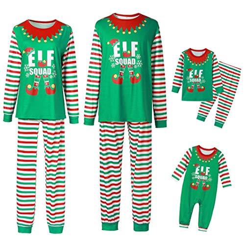 Fossen Kids Pijamas Navideños Familiares, Conjunto de Pijama Navideño Familia Invierno, Traje de...