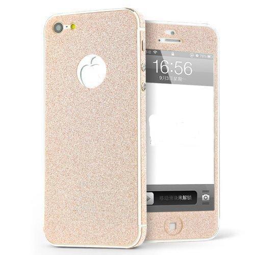 Luch iPhone 5 / 5S / SE Glitzerfolie Skin Diamond Shine Sticker Klebefolie Schutzfolie für die Vorder- und Rückseite, Orange