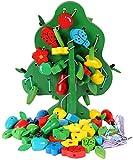 OOPP Holzperlen-Spielzeug, Obstbäume, Puzzle, pädagogisches Spielzeug für Kinder,...