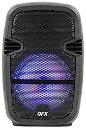 """small QFX PBX-858 """"Portable Bluetooth Party Speaker with Microphone"""""""