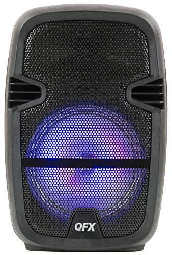 """powerful QFX PBX-85 8 """"Portable Bluetooth Party Speaker with Microphone"""""""