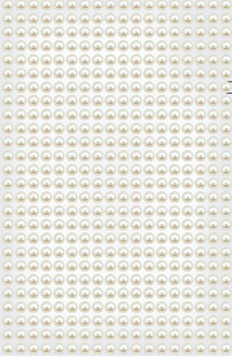 425 Halbperlen selbstklebend weiß perlmutt 5mm groß zum Basteln halbe Perlen zum Kleben toll auf Hochzeitseinladungen, Tischkarten, Hochzeitsdeko