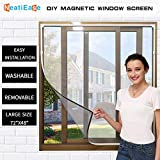 """NeatiEase Adjustable DIY Magnetic Window Screen Max 72"""" x 48"""" Fits Any Size..."""