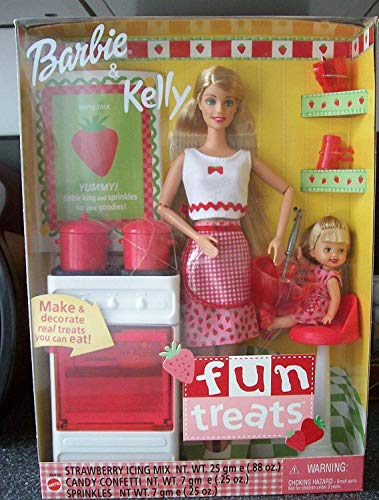 Mattel Barbie & Kelly Fun Treats - Barbie Doll & Kelly Doll with Oven & Kitchen Accessories