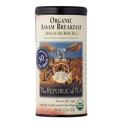 The Republic of Tea Organic Assam Breakfast Tea, 50 Tea Bags, Premium Assam Black Tea