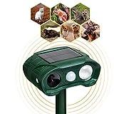 YARDPRO Solar Powered Animal Repeller Cat Deterrent - Ultrasonic Dog Repeller - Outdoor Waterproof PIR Sensor Repellent...