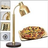 TANERDD Alimentos lámpara de Calor Ajustable de Escritorio con Base de mármol Manguera Universal para Cafeteria Buffet Alimentos Aislamiento,Oro