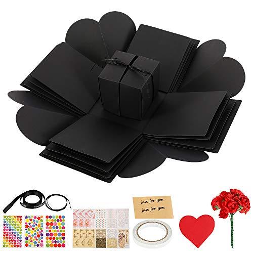 Jetcloud Explosion Box creatief doe-het-zelf fotoalbum Scrapbooking cadeau doos liefde geheugen voor bruiloft, verjaardag, Valentijn, verjaardag, kerstfeest cadeau