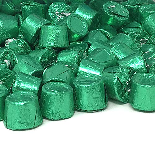 CrazyOutlet Pack - Rolo Chewy Caramel in Milk Chocolate, Green Foil Wrappers, Bulk Christmas Candy, 2 lbs