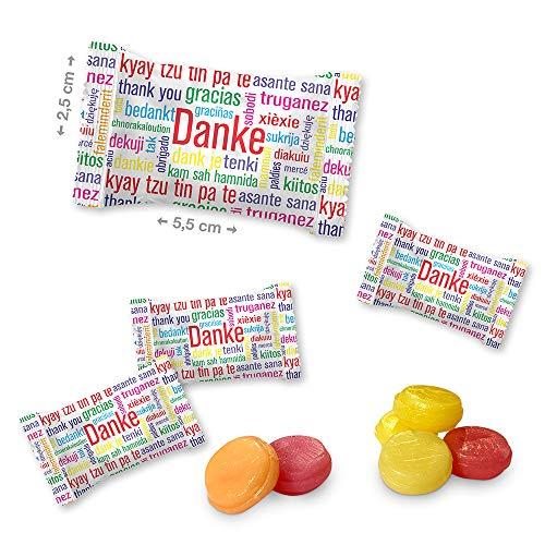 Danke Bonbons - Das perfekte Giveaway für Ihre Kunden. - Die süße Möglichkeit einmal DANKE zu sagen Inhalt: 1000g (ca.400 Stück)