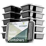 FITPREP® Meal Prep Container - Juego de recipientes para comida (10 unidades, incluye libro de recetas)