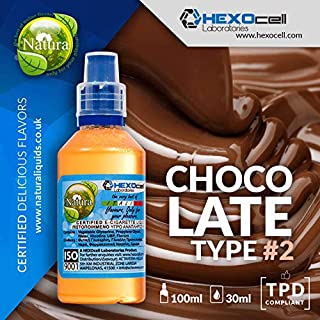 E LIQUID PARA VAPEAR - 30ml Chocolate Type #2 (Chocolate con leche con cacao extra y dulce de azúcar) Shake and Vape E Liquido para Cigarrillo Electronico, ...