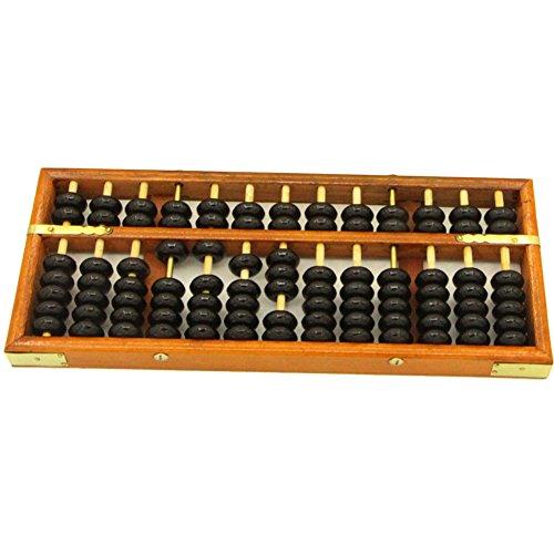 HugeStore, abaco Soroban da tavolo in legno, vintage, ideale per insegnare la matematica ai bambini
