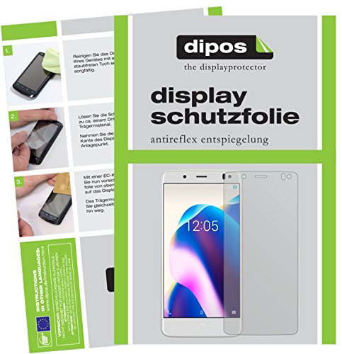 dipos I 2X Schutzfolie matt kompatibel mit BQ Aquaris U2 Lite Folie Bildschirmschutzfolie