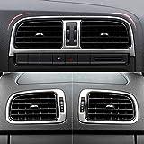 Hermoso 6pcs / Set Acero Inoxidable Salida de Aire Central Cubierta del Coche-Styling for VW Volkswagen Polo 6R 2011-2017 Accesorios for el Coche