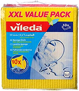 Vileda VC26 Wiping Sponge Cloth 10Pcs Assorted Colors