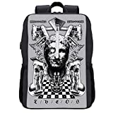 Theos Greek Statue Collage Backpack Daypack Bookbag Laptop School Bag with USB Charging Port