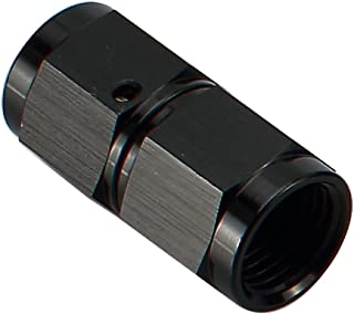 8AN Female to 8 AN Female Flare Coupler Hose Union Swivel Aluminum Coupling Fuel Fittings Adapter Straight Black 3/4-16 AN8 Thread Pipe Connector