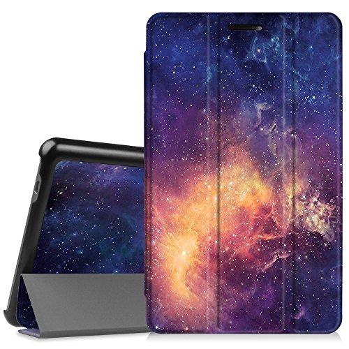 Fintie Huawei Mediapad T3 8 Hülle Case - Ultra Dünn Superleicht SlimShell Ständer Cover Schutzhülle Tasche mit Zwei Einstellbarem Standfunktion für Huawei T3 20,3 cm (8,0 Zoll), Die Galaxie