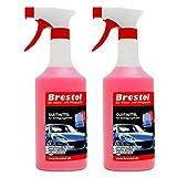 Brestol Gleitmittel für Reinigungsknete rot & blau 2X 750 ml - für Polierknete Lackknete Clay-Bar...