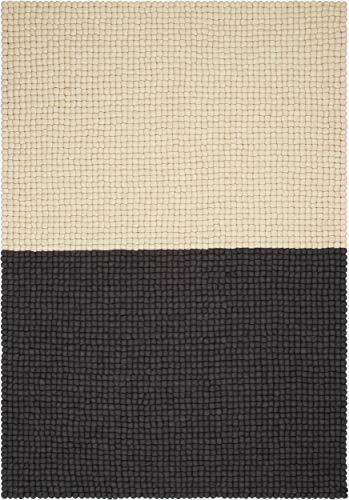 myfelt Contrast Filzkugelteppich — 120x170 cm — anthrazit/beige