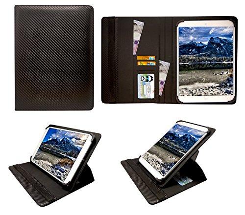 Sweet Tech Odys Neo Quad 10 Inch Tablet Kohlen Schwarz Universal 360 Grad Wallet Schutzhülle Folio mit Kartensteckplätzen (9-10 Zoll