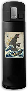The Great Godzilla Off Kanagawa Stainless Steel Vacuum-Insulated Mug - BPA Free - Thermos Cup With Bounce Cover