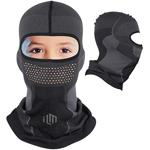 ILM Knitted Lightweight Ultra Breathable Cycling Balaclava Ski Mask for Kids