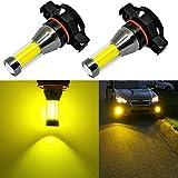 Alla Lighting Xtreme Super Bright LED 2504 PSX24W Fog Light Bulbs - High Power COB Universal 12276 2504 PSX24W LED Bulb Fog Lights Lamp Replacement - 3000K Amber Yellow