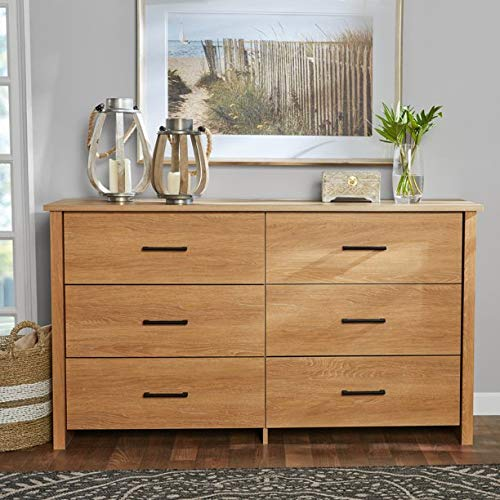 Mainstay Hillside 6-Drawer Dresser, (.Dover Oak)
