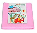 OYO BABY - Water Proof / Breathable Mattress Protector Mat / Underpad / Kids Sheet (100cm X 70cm, Medium) - Pink