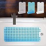Badewannenmatte von BEARTOP   40 x 100cm   ca. 200 Saugnäpfe   BPA frei   rutschfest   waschbar in der Maschine   schimmel-resistent   verschiedene Farben   Zufriedenheitsgarantie (3 Jahre)