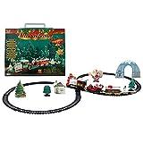 Juego de trenes de juguete navideño Juguete de vía férrea para niños eléctrica Música El tren navideño es adecuado para niños, niños y niñas