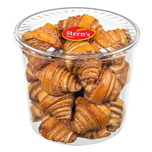 Cinnamon Rolls   Cinnamon Buns   Breakfast Pastry   Approx 20 Rugelach Pastries Cinnamon Croissants   Preservative Free & No Coloring Added   Dairy & Nut Free   19 oz Stern's Bakery