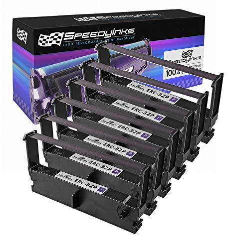 Price comparison product image Speedy Inks Compatible POS Ribbon Cartridge Replacement for Epson ERC-32P (Purple,  6-Pack)