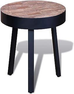 Reclaimed Teak Wood Round Side Table