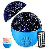 MOSUO Lámpara Proyector Estrellas Oceano Luz Nocturna Infantil, USB Recargable LED Proyector para Niños con Bluetooth y Control Remoto 16 Modos 4 Temporizador 360°Rotación para Bebé Regalo Fiesta