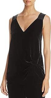 Hugo Boss Womens Ikaria Velvet V-Neck Dress Top