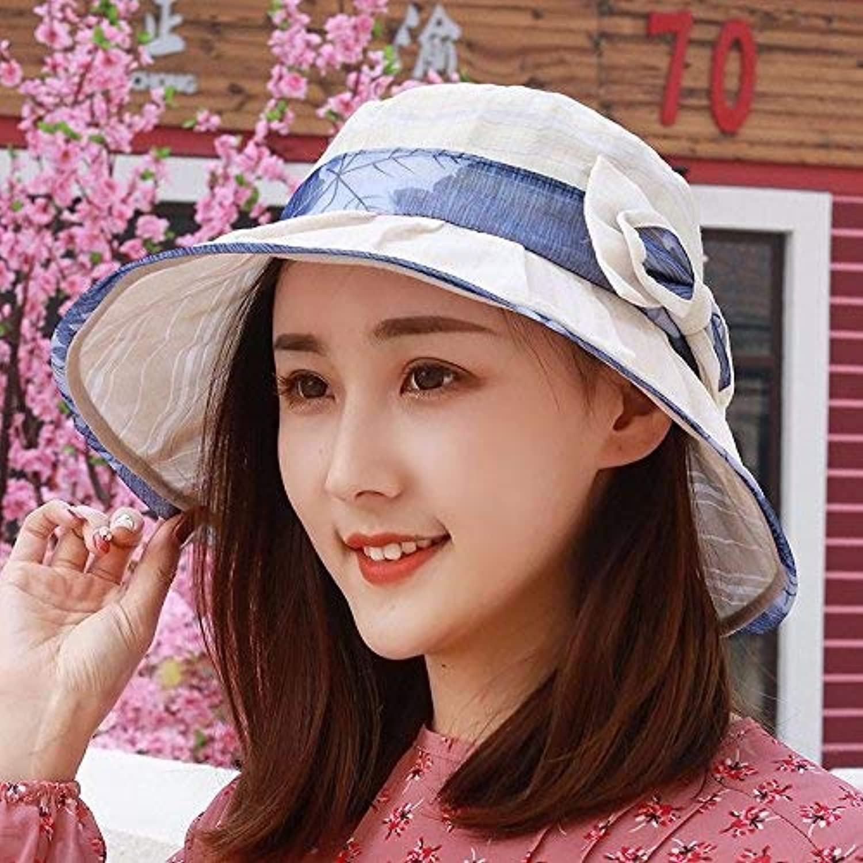 Dianye Summer hat, sun hat, gauze cap, Beach Hat, folding hat,