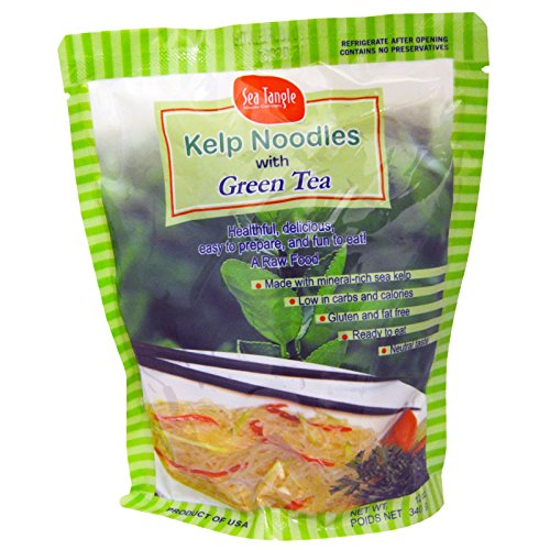 Sea Tangle Noodle Company, Kelp Noodles, with Green Tea, 12 oz (340 g) - 3PC