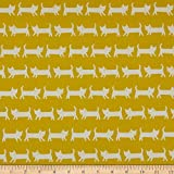 Elite Fabrics 0661409 Elite Tip-Top Oxford Cats Yellow