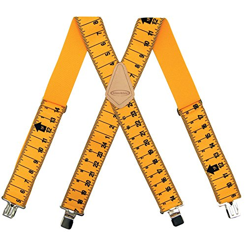 McGuire-Nicholas 2-Inch Wide Ruler Suspenders, One Size Fits All