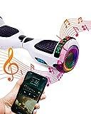 ACBK Bluetooth UL2272 Hoverboard, Juventud Unisex, Blanco, Rueda LED 6.5'