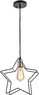 LightingPro Vintage Industrial Star Pendant Light Black Metal Wire Pendant Lighting Farmhouse Hanging Light Fixture for Kitchen Island Bar Shop Restaurant Loft