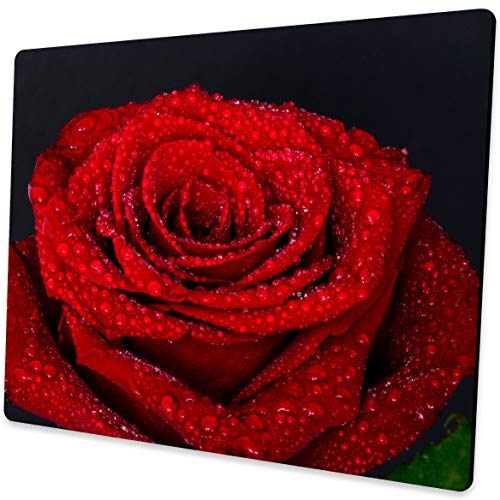 Shalysong Red Rose Mousepad Computer Mouse pad with Design Personalized Mouse pad for Laptop Computer Office Decoration Accessories Gift