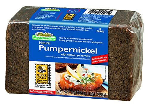 Mestemacher Bread, Pumpernickel, 17.6 Ounce Packages, Pack of 12